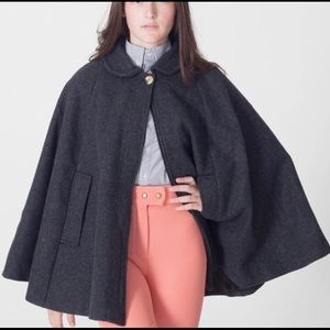 American Apparel Wool Cape - Oxford